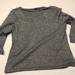 Ann Taylor sparkly tip.  Silver/gray Size Large